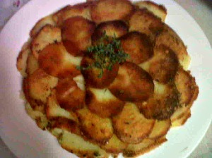 What you want to look for. Browned Potato galette!