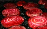 Just clean and slice some beets, sear for a few minutes on each side. Greats for salads, steaks, burgers!
