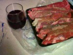 Tri Tip Steaks and Vino, cause that's how I roll...lol