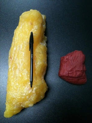 Five pounds of fat versus five pounds of lean muscle