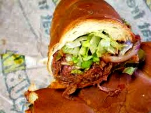 Subway's version of the pulled pork sandwich.