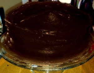 Finished off with a double chocolate ganache!