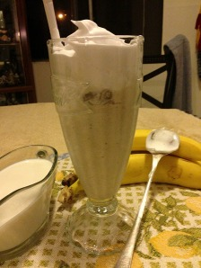 Add a little milk and have a banana shake, old fashion ice cream parlor style!!