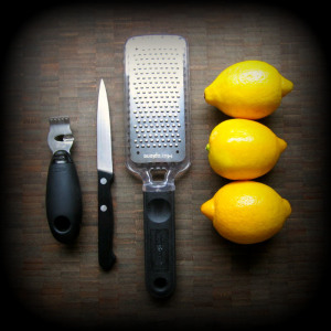 Various tools for zesting