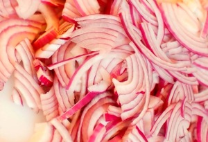 If you don't have shallots or can't find any, then its okay to use red onion.Just slice it really thin.